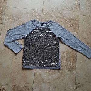 Rue21 Gray Sequin Sweater
